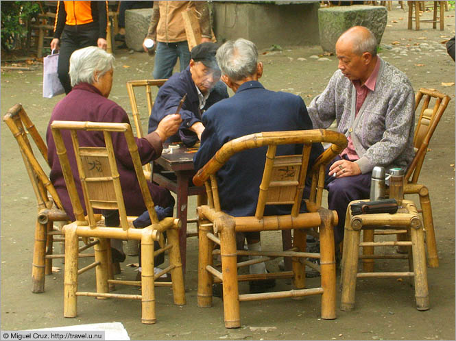 China: Sichuan Province: Mahjong in the park