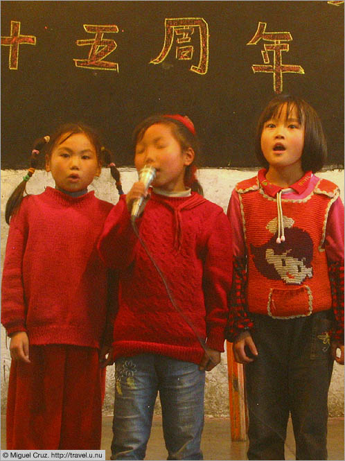 China: Sichuan Province: Singing in the National Day