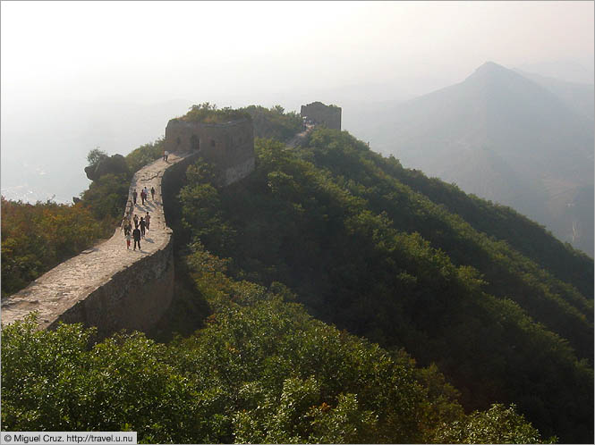 China: Beijing: The Great Wall fading into the mist