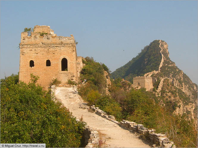 China: Beijing: Guardpost along the Great Wall