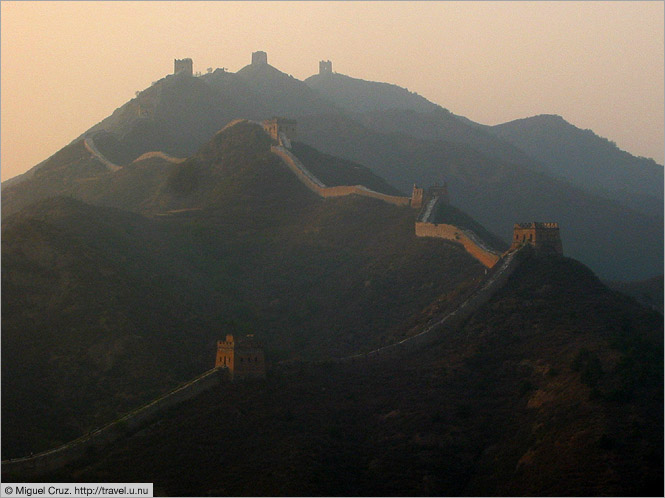 China: Beijing: Great Wall at sunset