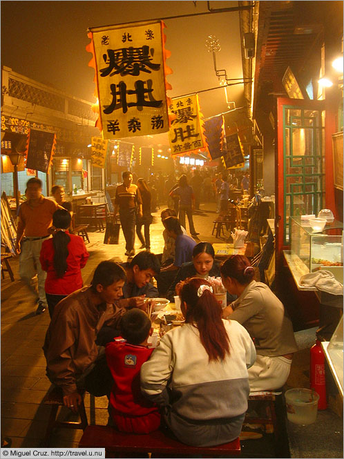 China: Beijing: Alley dining