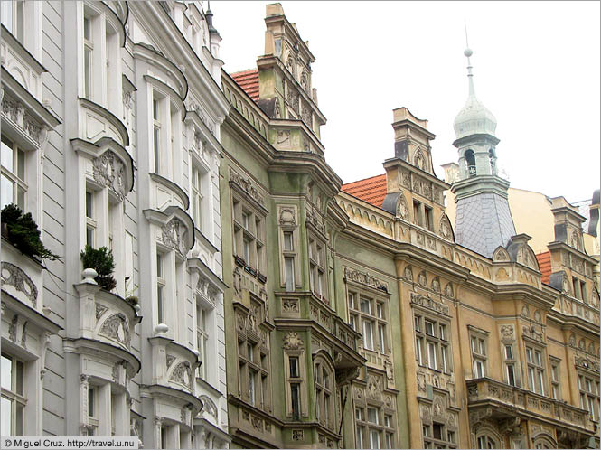 Czech Republic: Prague: Ornate rooftops