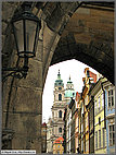 Arch on north side of Charles Bridge