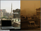 Sandstorm: before and after