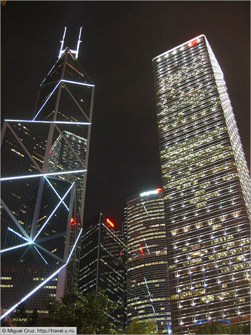 Hong Kong: Hong Kong Island: Bank of China tower and Cheung Kong Center