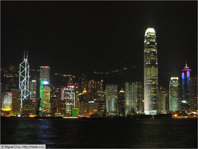 Hong Kong: Hong Kong Island: Hong Kong skyline by night