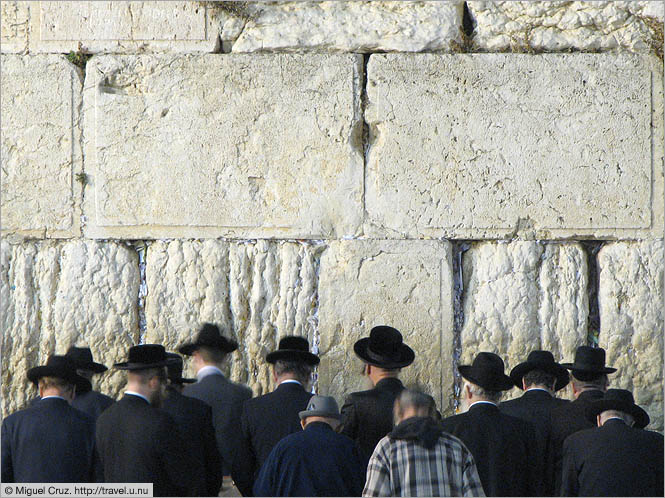 Israel: Jerusalem: Close-up of the Western Wall