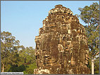 Bayon temple heads basking in the sunshine