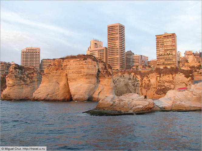 Lebanon: Beirut: Sunset from the Mediterranean