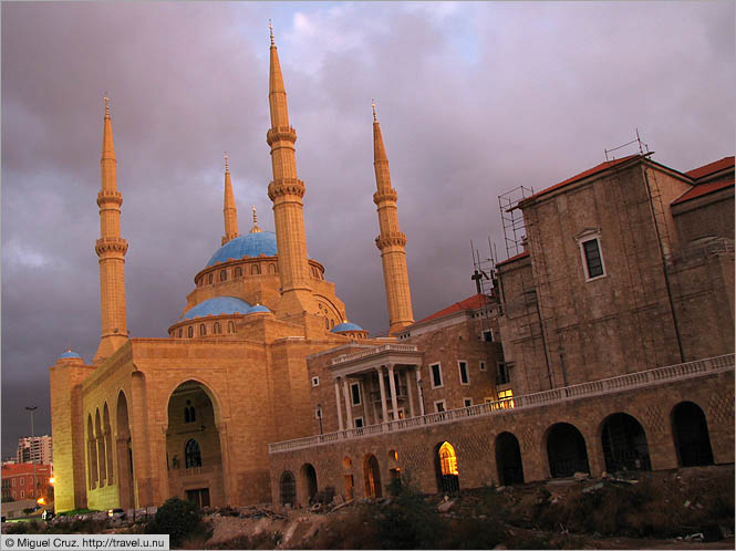 Lebanon: Beirut: Church and mosque, side by side