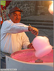 Cotton candy man in Coyoacan