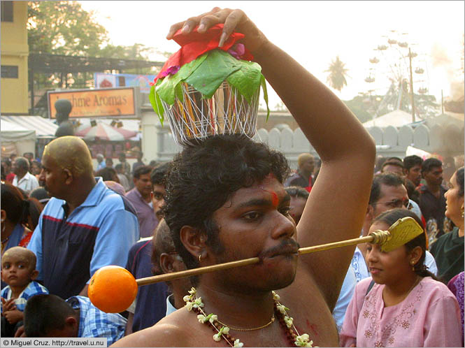 Malaysia: Thaipusam in KL: Skewered