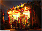 Buddhist temple aglow