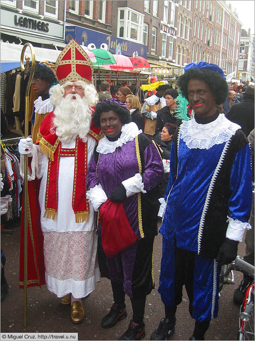 Netherlands: Amsterdam: Santa Claus and Black Pete