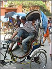 Resting in the rickshaw