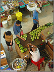 Fruit seller from above