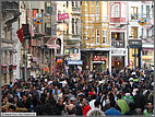 Wall-to-wall crowds on Istiklal Caddesi