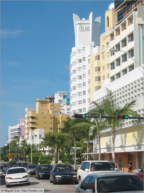 United States: Miami Beach: Art deco on Ft. Collins Ave.