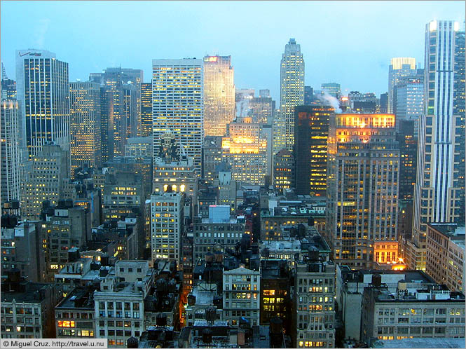 United States: New York City: Midtown at twilight