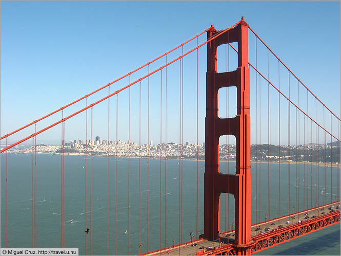 United States: San Francisco: Downtown through the bridge