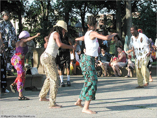 United States: Washington DC: Meridian Hill dancers